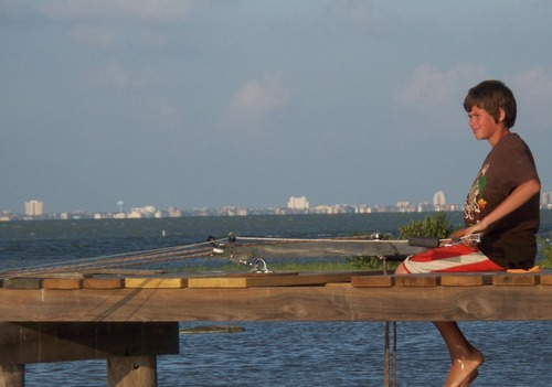 Kite-sailer control bar on test 1