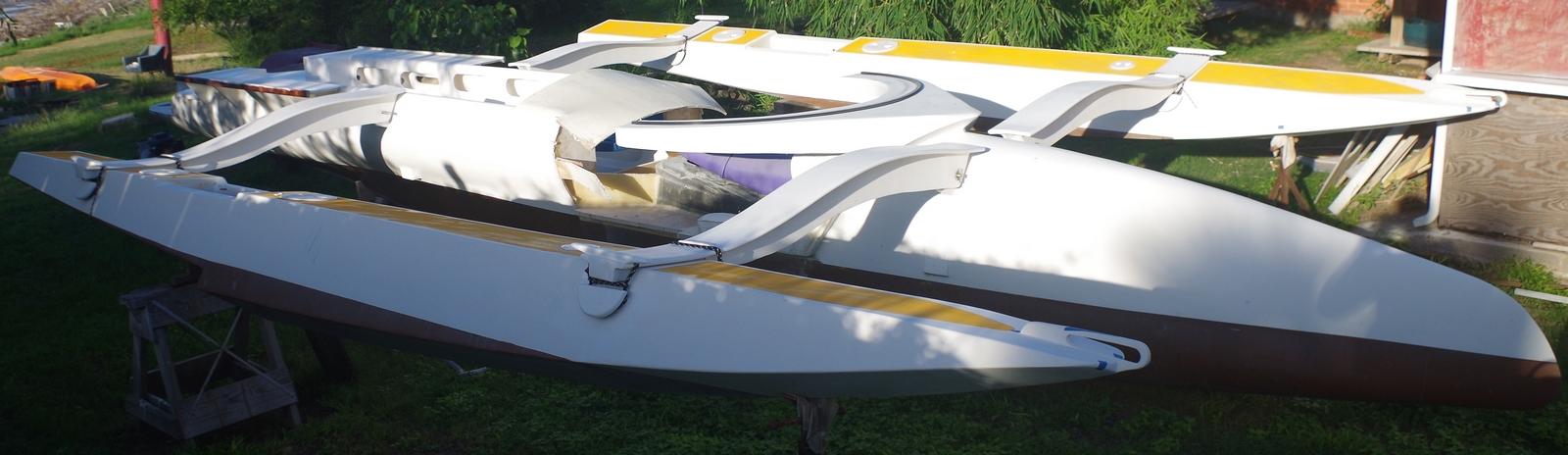 temporary alignment of Kite sailer hulls
