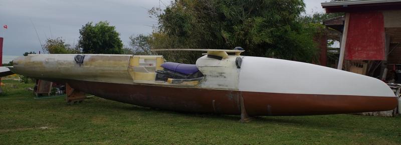 Main hull of the kite sailer ...kite boat